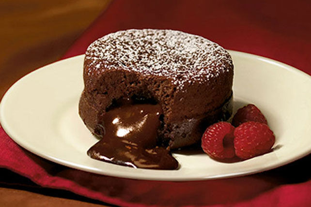 Warm Dark Chocolate Fondant Cake